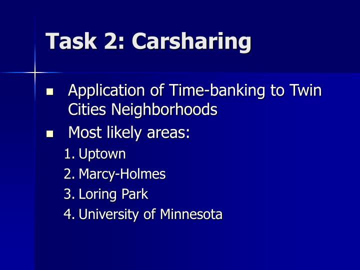 Task 2: Carsharing