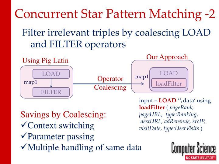 Concurrent Star Pattern Matching -2