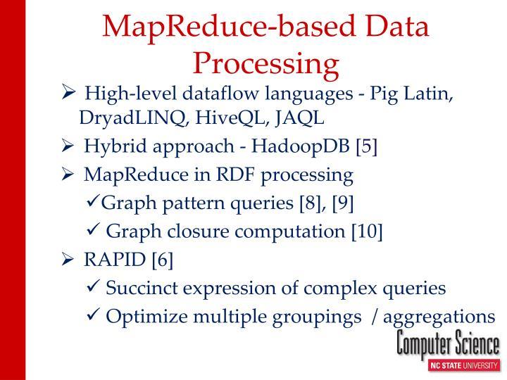 MapReduce-based Data Processing