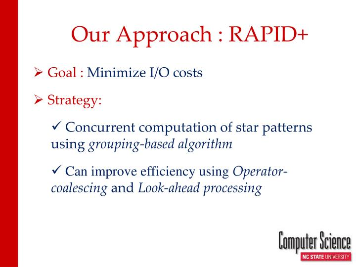 Our Approach : RAPID+