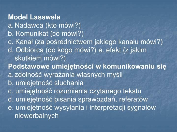Model Lasswela