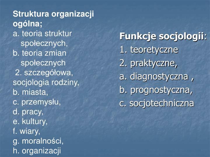 Funkcje socjologii