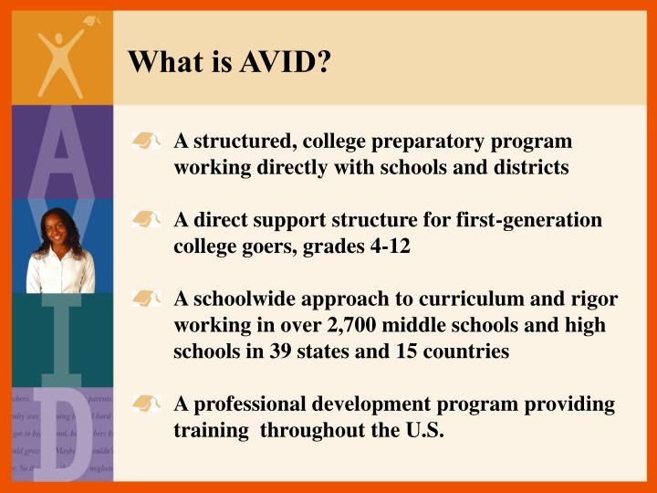 What is AVID?