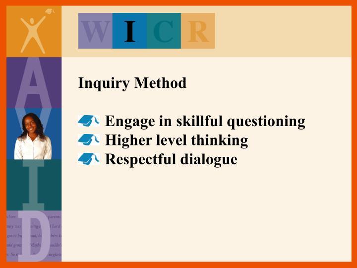 Inquiry Method