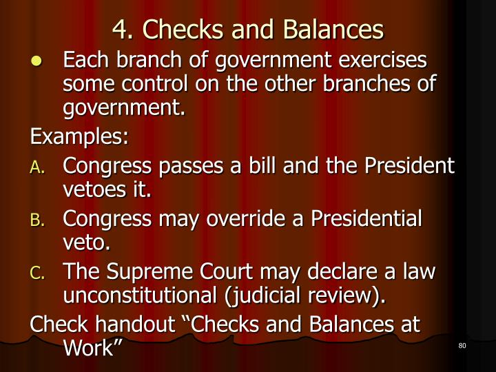 4. Checks and Balances