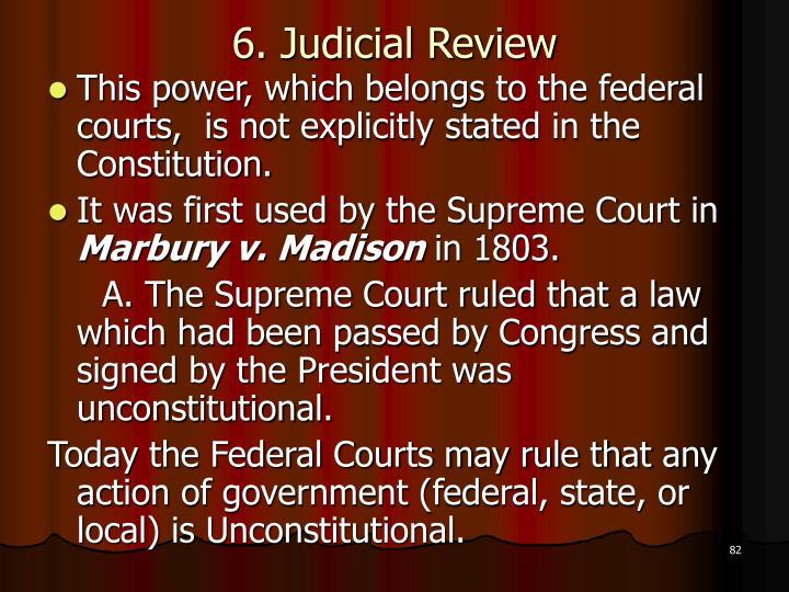 6. Judicial Review