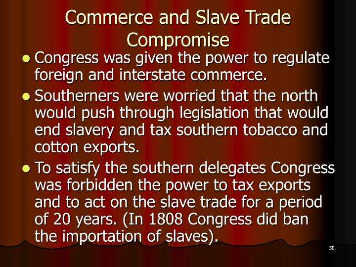 Commerce and Slave Trade Compromise