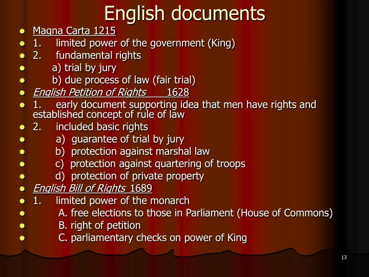 English documents