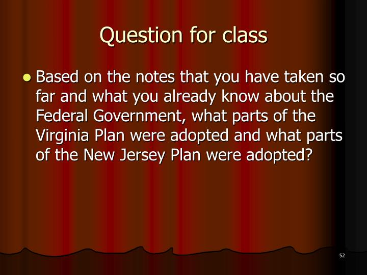 Question for class