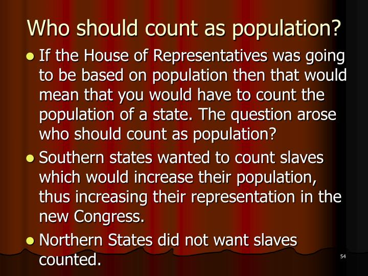 Who should count as population?