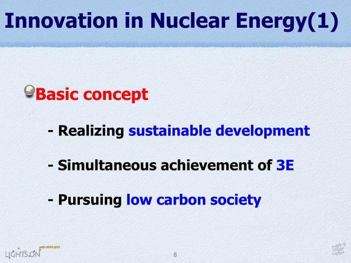 Innovation in Nuclear Energy(1)