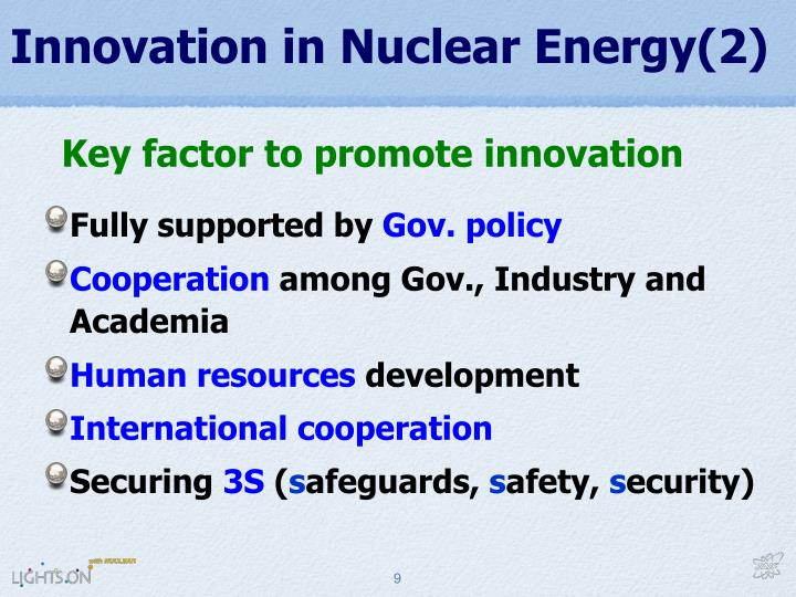 Innovation in Nuclear Energy(2)