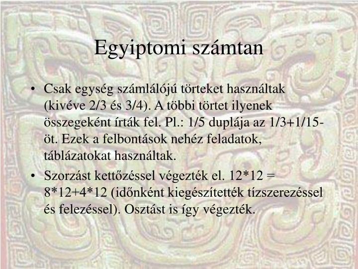 Egyiptomi számtan