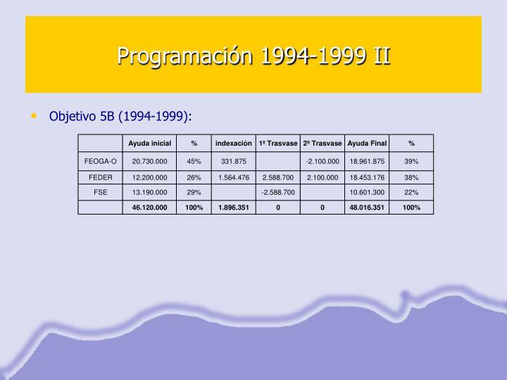 Programación 1994-1999 II