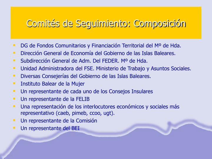 Comités de Seguimiento: Composición