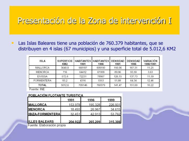 Presentación de la Zona de intervención I