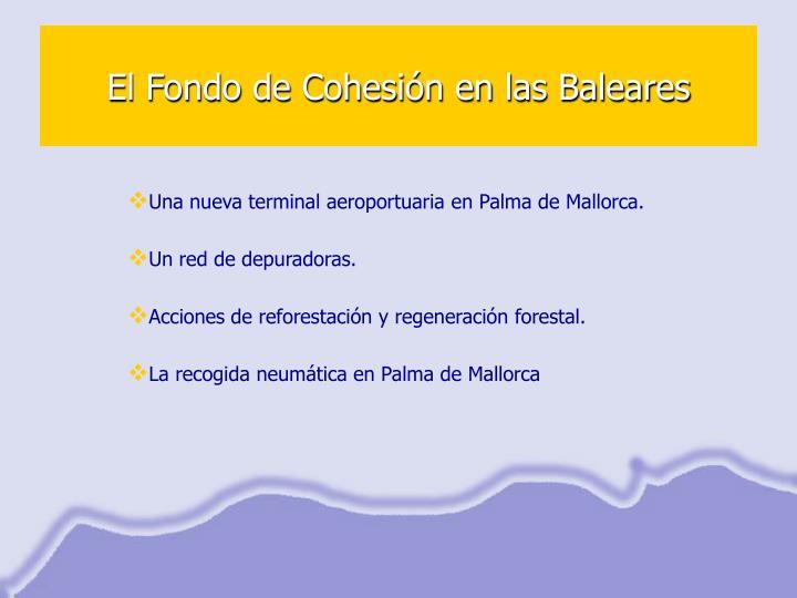 El Fondo de Cohesión en las Baleares