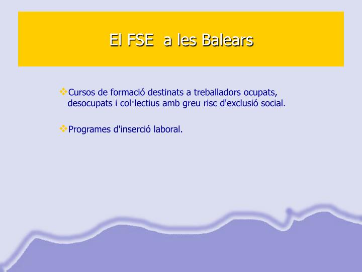 El FSE  a les Balears