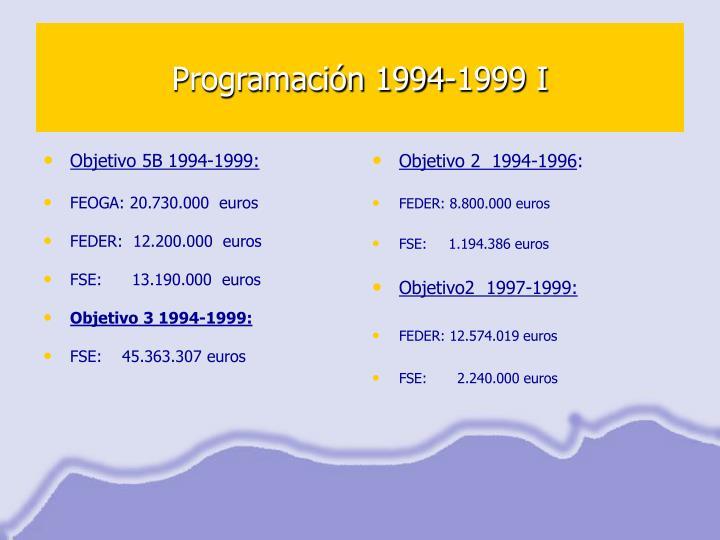 Programación 1994-1999 I