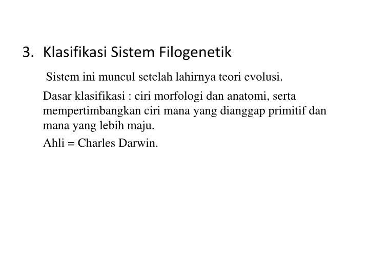 Klasifikasi Sistem Filogenetik