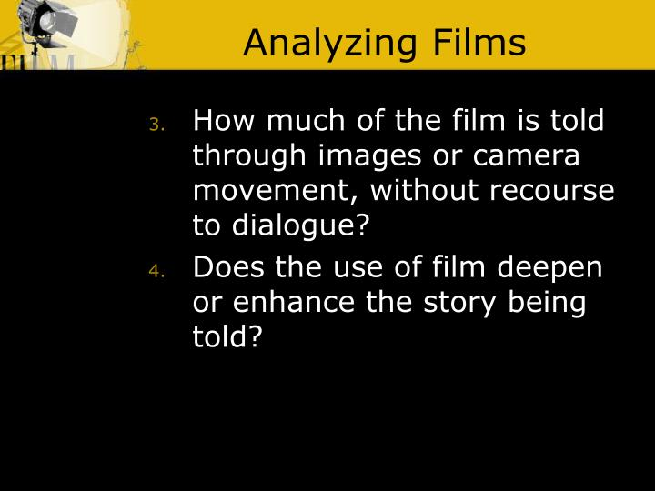 Analyzing Films