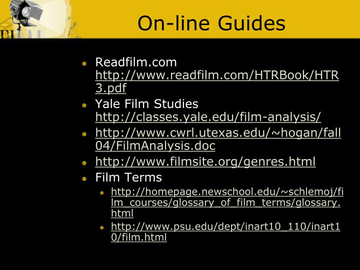On-line Guides