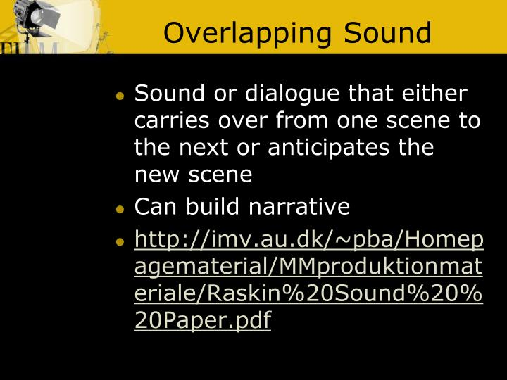 Overlapping Sound