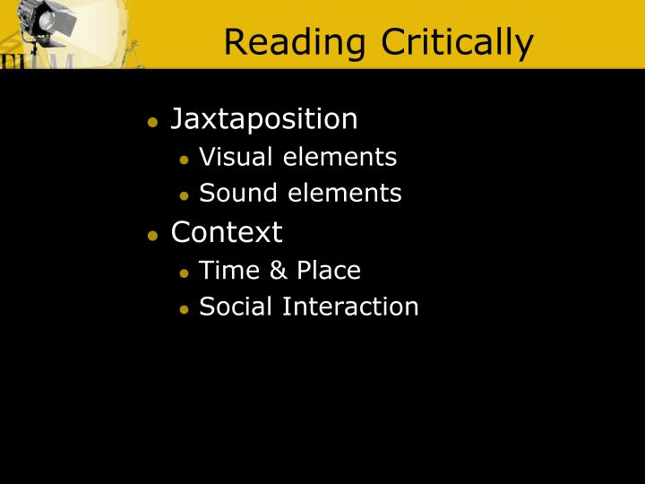 Reading critically