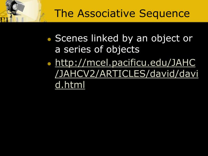 The Associative Sequence