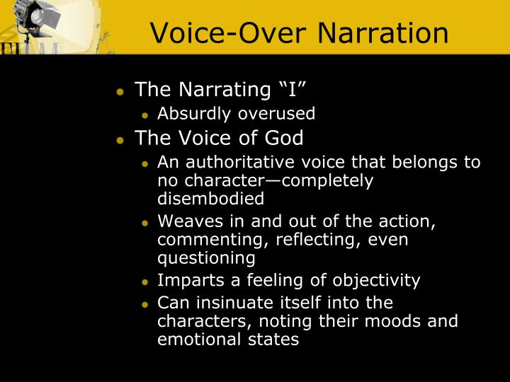Voice-Over Narration