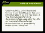 simd an urban indicator