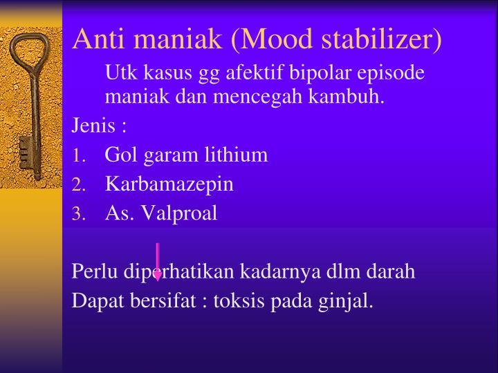 Anti maniak (Mood stabilizer)