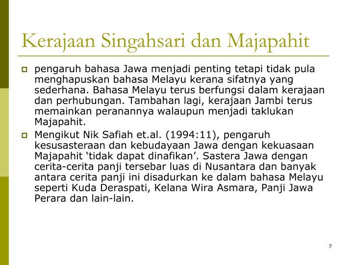 Kerajaan Singahsari dan Majapahit