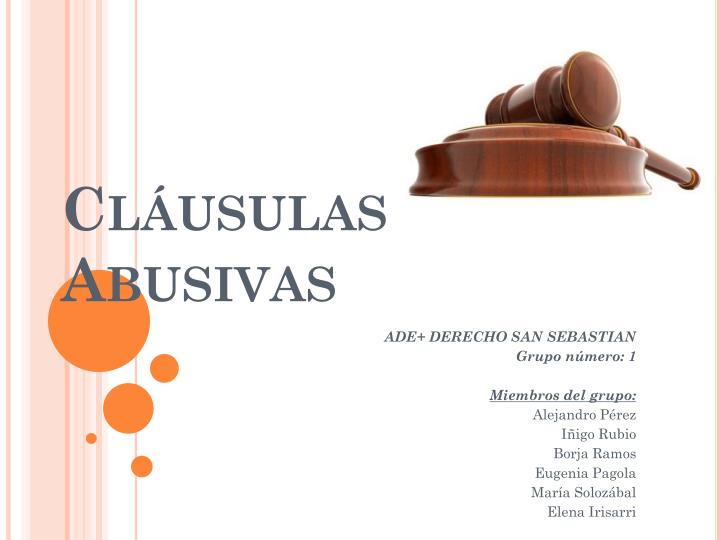Cl usulas abusivas