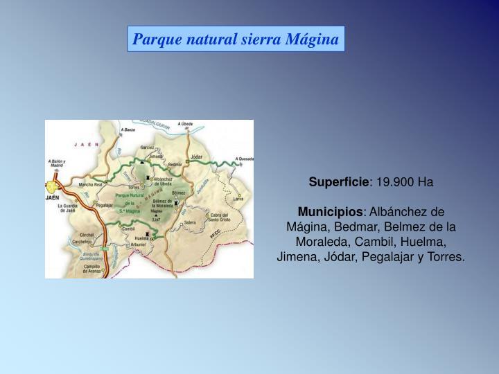 Parque natural sierra Mágina