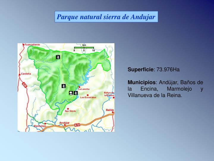 Parque natural sierra de Andujar