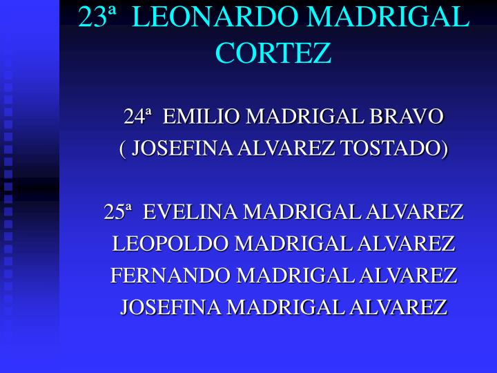 23ª  LEONARDO MADRIGAL CORTEZ