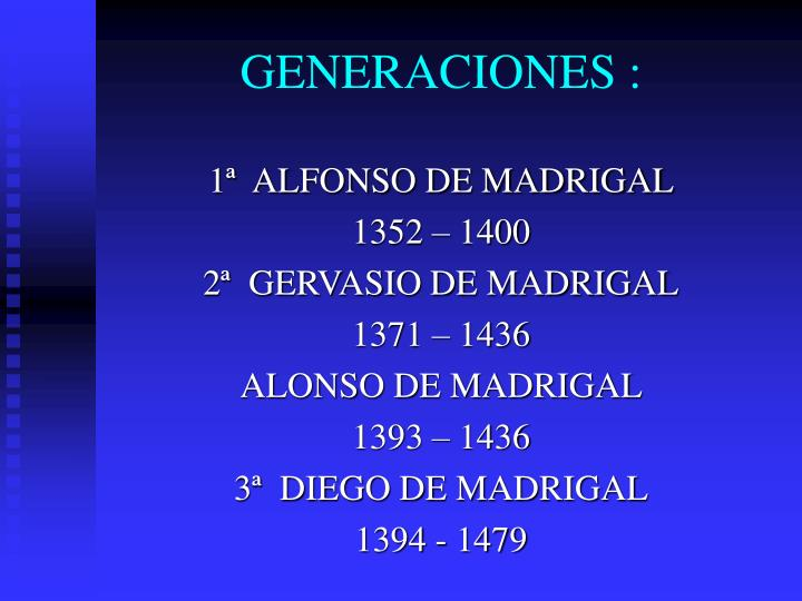 GENERACIONES :