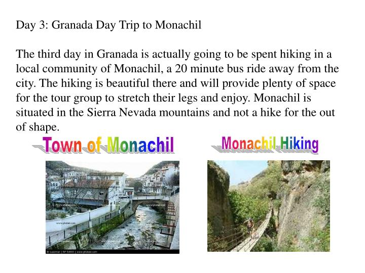 Day 3: Granada Day Trip to Monachil