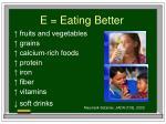 e eating better