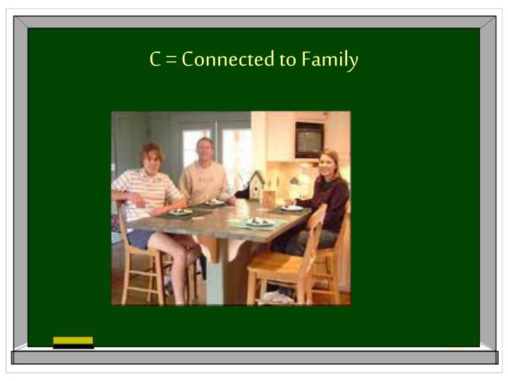 C = Connected to Family