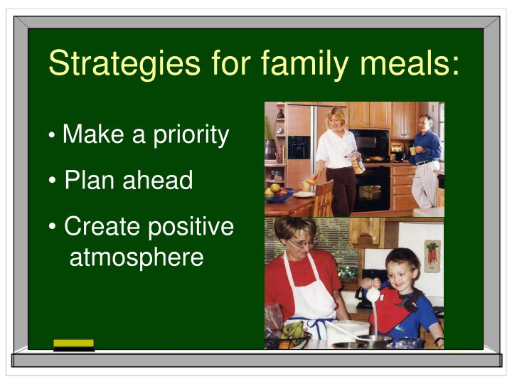 Strategies for family meals: