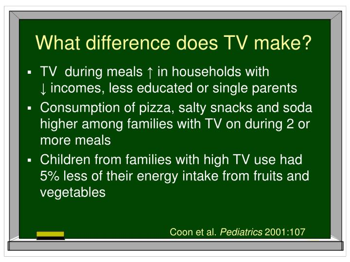 What difference does TV make?