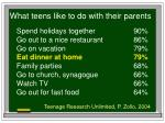 what teens like to do with their parents