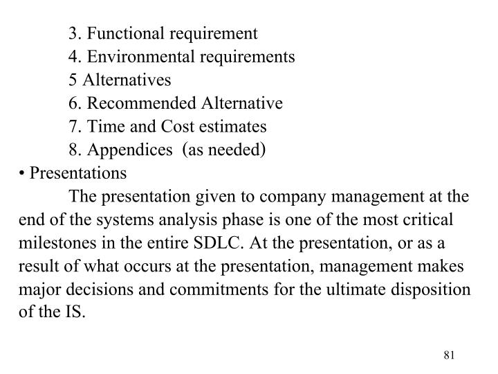 3. Functional requirement