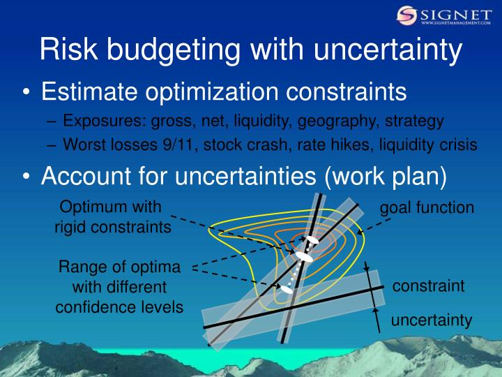 Risk budgeting with uncertainty