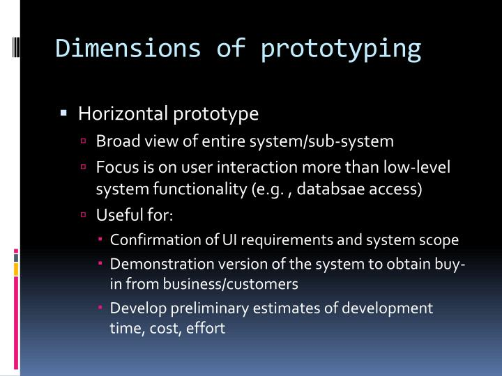 Dimensions of prototyping