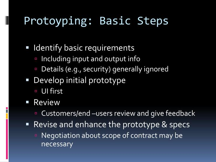 Protoyping
