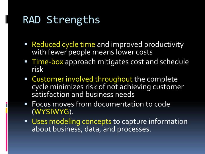 RAD Strengths