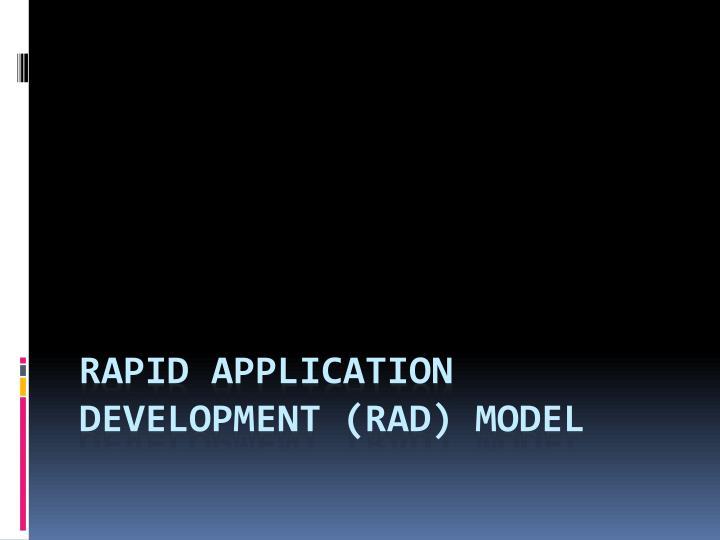 Rapid application development (RAD) Model